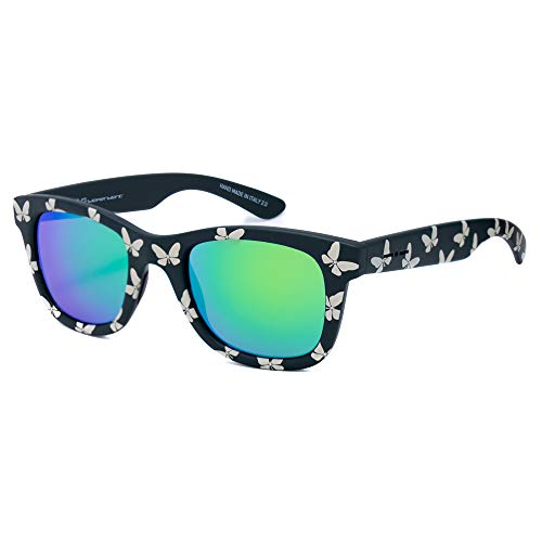 italia independent 0090T-FLW-032 Gafas de sol, Negro/Beige, 50 para Mujer