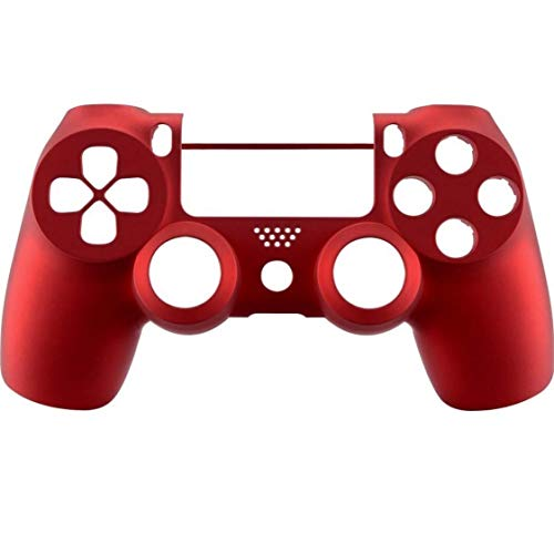 PS4 コントローラー用 フロントシェル ( コントローラーカバー for Playstation4 Slim Pro Controller (CUH-ZCT2 JDM-040 JDM-050 JDM-055) (Soft Touch Red) [並行輸入品]