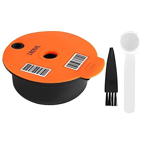 Runtodo Cápsulas de café reutilizables, compatible con máquinas -S Tassimo, filtro de café rellenable cápsulas de café de 180 ml