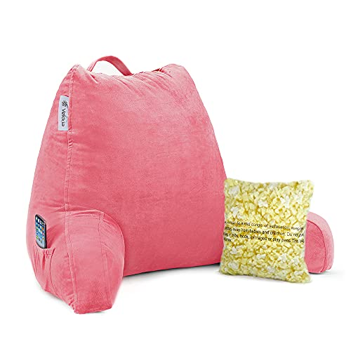 Product Image of the Vekkia Reading & Bed Rest Pillow with Support Arms, Pockets, Memory Foam....