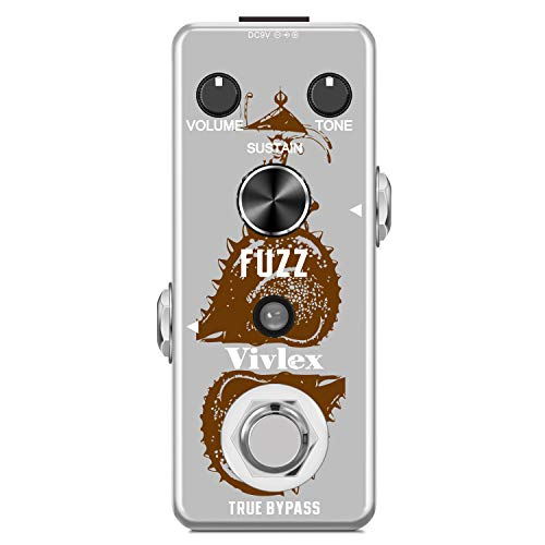 Vivlex LEF-306 Fuzz Guitar Effects Pedal Mini Analog Fuzz Distortion Pedal...