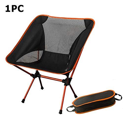 YFCTLM Silla Plegable Silla portátil Campamento Playa Ligero Plegable Pesca en Silla de Camping al Aire Libre Sillas Ultra Orange Rojo Oscuro Azul Beach (Color : 1PC Orange)
