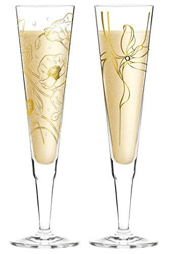 Dekomiro Ritzenhoff Champus Champagneglas met stoffen servet Novi en Warren herfst 2019 in set met 50 ml afwasmiddel