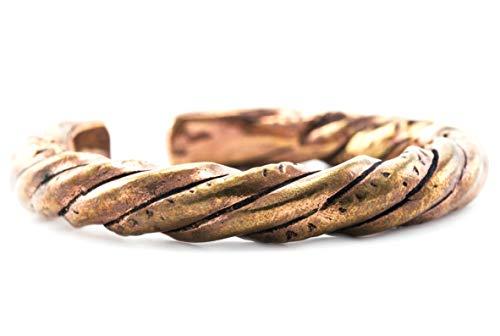 Windalf Unisex Vintage Armreif FRAYA Ø 5.2 cm Wikinger Asatru Armschmuck Bohemia Ethno Hobbitschmuck Hochwertige Bronze
