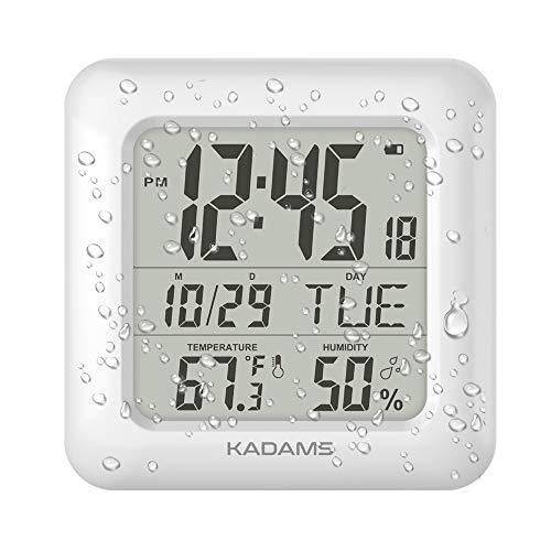 KADAMS Digital Bathroom Shower Wall Clock