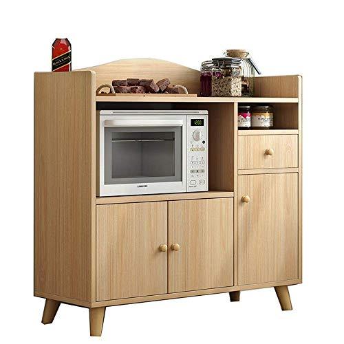 Équipement quotidien Buffet Buffet Buffet Credenza Accent Armoire de rangement de service avec cuisine Salle à manger Console Salon Convient pour le bureau d'entrée du salon (Couleur: Bois Taille: