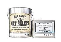g-select 自動車塗装用1液ウレタン艶消塗料 「MAT.SELECT」 冬型ローラー用シンナー付ミリタリーカラー 【M-3】オリーブドラブ2Kg缶&シンナー500mlセット