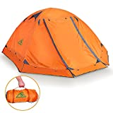 RioRand Double Layer 2 Person 4 Season Aluminum Rod Outdoor Camping Tent Topwind