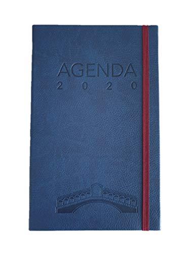 Agenda Classica 2020 Venezia E-Taccuino, Settimanale 12 Mesi con Elastico e Segnalibro, copertina con Rivestimento Soft