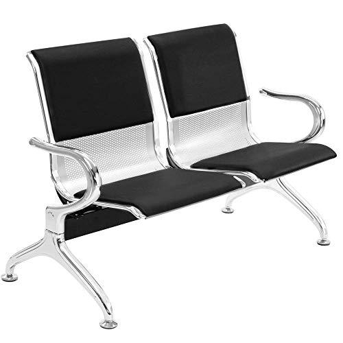 PrimeMatik - Bancada para Sala de Espera con sillas ergonómicas Acolchadas de 2 plazas