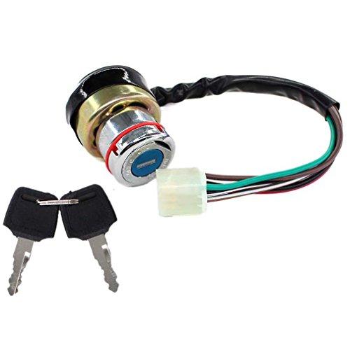 AISEN Universal 3 Pin Zündschloss Passend für viele verschiedene Motorrad und Quad mit 2 Schlüssel