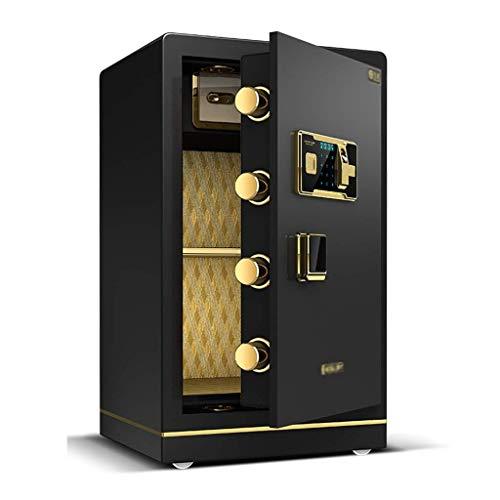 XiYou Caja Fuerte de Seguridad, hogar con contraseña de Huella Digital Mediana Depósito de Acero antirrobo Grande (marrón, 40 * 36 * 60 cm)