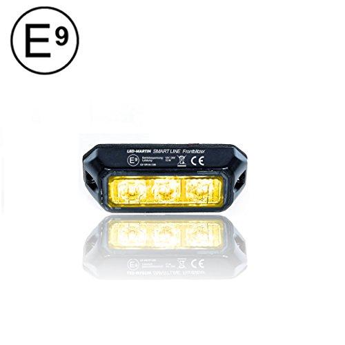 LED-MARTIN SMART LINE - Intermitente delantero (9W, 12V / 24V, incluye autorización), color naranja