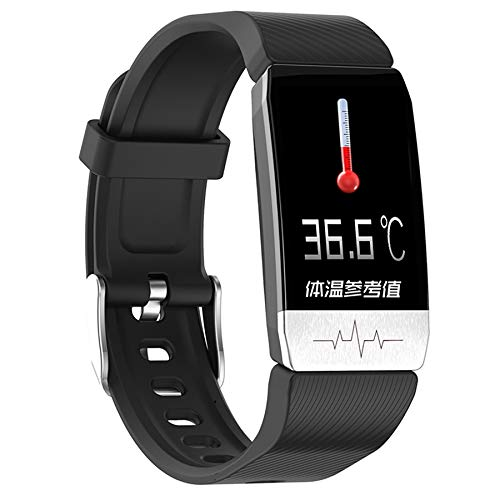Adanse T1 Smart Watch Band con misurazione della temperatura immunitaria EKG, frequenza cardiaca, misurazione della pressione sanguigna, previsioni meteo, bere nero promemoria