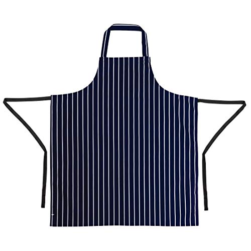 Whites Chefs Apparel A530 Whites Butchers Schürze, gestreift, Marineblau