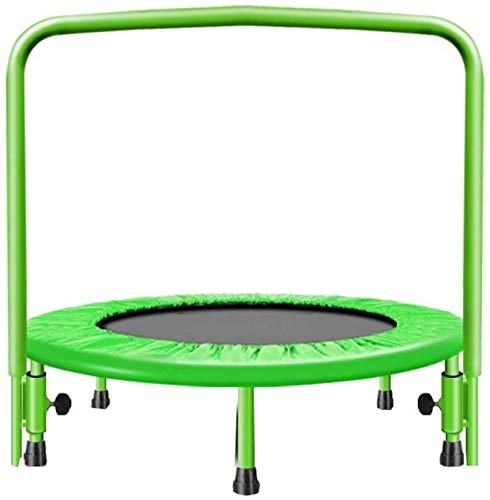 genneric Trampoline Toddler Family Fitness Trampoline, Indoor For Adult Gym Slimming Aerobic Elastic Gymnastics Safety Jumping,Size:91cm/36in,Colour:Pink (Color : Green, Size : 91cm/36in)
