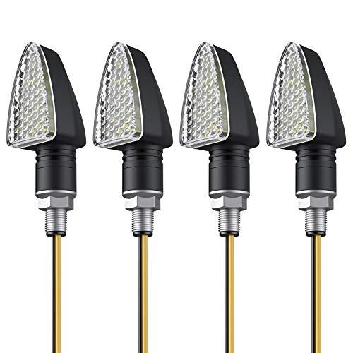 Luces Señal de Giro 4PCS Indicadores de Giro Impermeable 15-LED Mini Inminentes de Direccion Iluminación Laterales Ambar para Motocicleta Motos