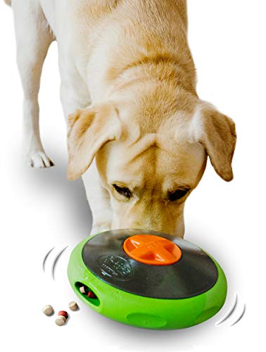 Sniffiz SmellyUFO Durable Interactive Treat Dispensing Puzzle/Enrichment Toy for Dogs - Mind Stimulating Food Game/Slow Feeder/Wobble Toy - from Small Puppies to Large Dogs