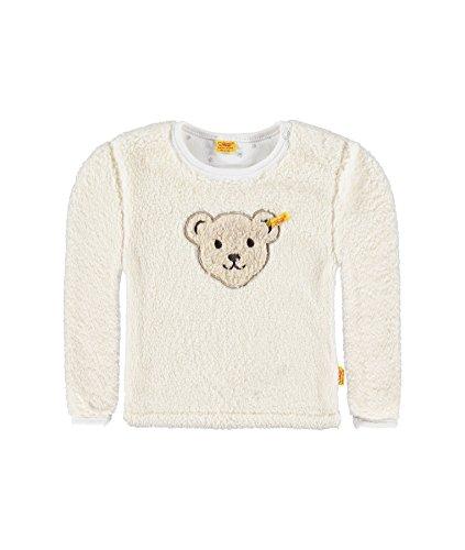 Steiff Sweatshirt 1/1 Arm Sweat-Shirt, Blanc (Cloud Dancer 1610), 12 Mois Bébé Fille