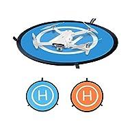 DJFEI Drohne Landeplatz für DJI Mavic Mini/Air 2S, 75cm Universal Wasserdichtes Faltbares Lande Pads für DJI Air 2S/ Mavic 2 Zoom/für DJI Mavic 2 Pro/für DJI Mavic Air, Doppelseitig Farbe Design