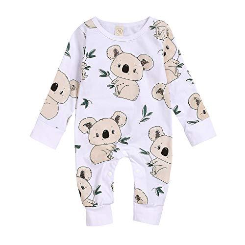 Mädchen Baby Frühling Kleidung Eingestellt Neugeborene Mädchen Jungen Cartoon Bier Strampler Bodysuit Outfits Langärmliges Cartoon-Bärn-Ha-Shirt des Kinder Jungen Mädchen
