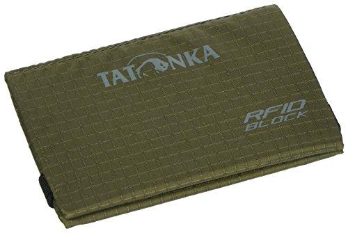 Tatonka Tarjetero RFID B – Tarjetero con Bloqueo RFID – Certificado TÜV – Espacio para al Menos 4 Tarjetas de crédito – Protección contra robos de Datos – 9,5 x 6 cm – Verde Oliva
