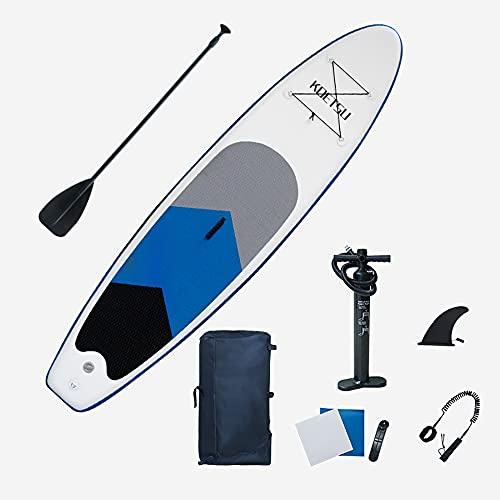 Tabla de remo inflable de pie, 10'6'x2'6'×6'Sup para todos los niveles de habilidad Tablas de remo inflable, cubierta antideslizante, bomba de aire manual, bolsa impermeable para jóvenes adultos niños
