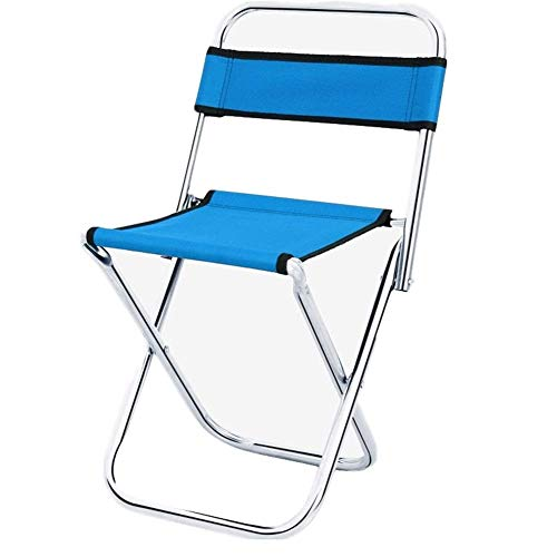 Folding Camping Stool Chairs Lightweight Teslin Material Mini Blue Chair Portable Outdoor Stools For Fishing Hiking Camping Picnic Travel