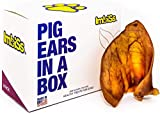 Imbiss Jumbo Pig Ears in a Box Made in USA No Hormones, no additives, Organic Healthy Treats for Your Dog, Made with no Hormones and no additives (8 Count)