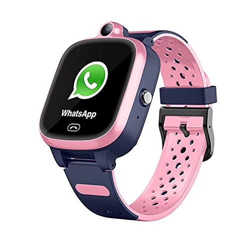 FVIWSJ Reloj Inteligente con Esfera Personalizada,Smartwatch Mujer,hasta 3 días batería,GPS Incorporado,Reloj Inteligente,1.4' Pantalla táctil, Impermeable,para Android/iOS,Rosado