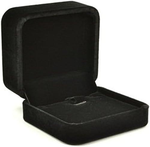 Mallofusa Elegant Black Velvet Vewelry Box Necklace Pendant Gift Box/Jewelry