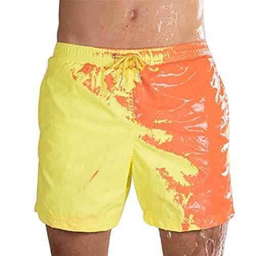 Gxing Badehose für Herren mit magischem Farbwechsel Gr. XXL, gelb
