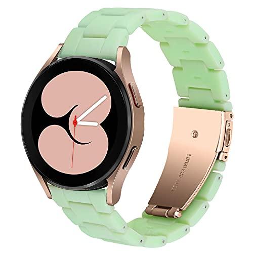DEALELE Correa compatible con Samsung Gear Sport/Galaxy 3 de 41 mm, Galaxy Watch 4, Galaxy Watch 42 mm, Active/Active 2, Huawei GT2 de 42 mm, 20 mm, color verde aguacate