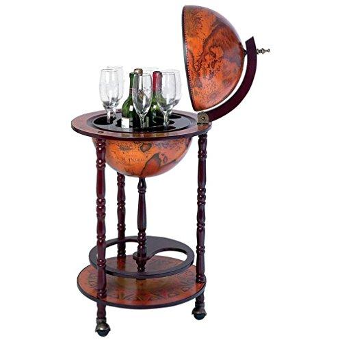 Kassel HHGLB32 Kassel 13quot; Diameter Old World Map Globe Wine Bar by B&F (Kitchen)