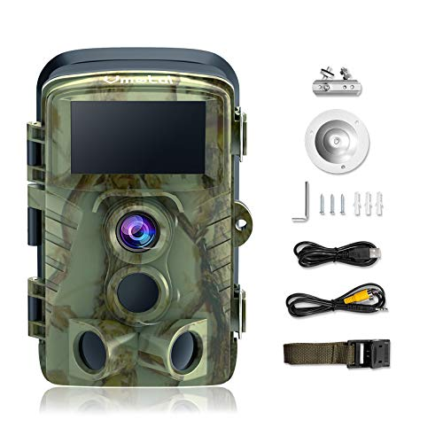 Trail Camera Game Cam with Night Vision Motion Activated Waterproof Wildlife Hunting Monitoring 20MP Photo 4K Video 120° Detecting Range 0.2s 2.4' LCD 40pcs IR LEDs Infrared Outdoor Cam Deer Scouting
