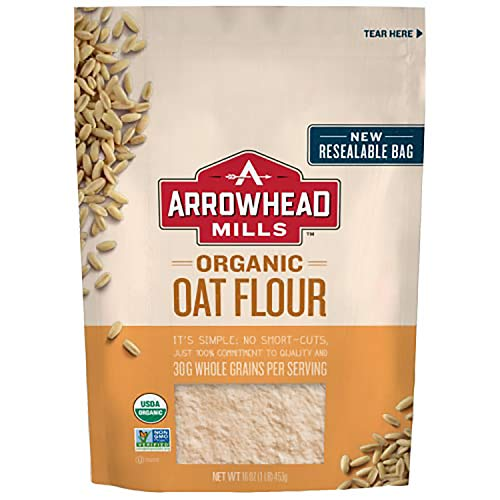 Arrowhead Mills Organic Oat Flour, 16 oz. Bag (Pack of 6)