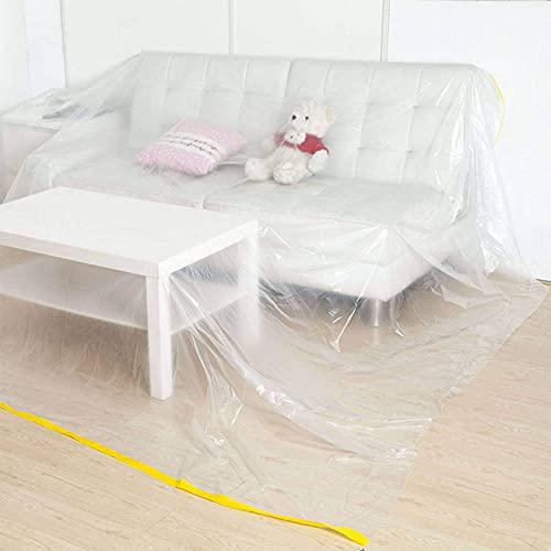 LBYJ Bordsduk, dammskydd bordsduk, klar plast avtorkningsbar vattentålig lättvårdad bordsduk bordsskydd bordsduk skydd – ny grå-274 cm x 366 cm