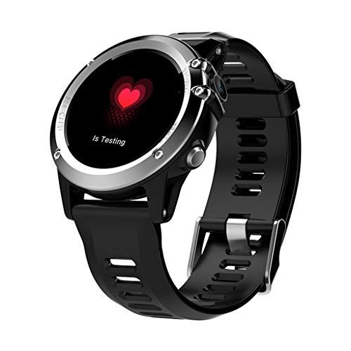 Fitnesstracker Smart Sports Armband met hartslagfrequentie 3 g oproepen, GPS-gravity smartwatch, compatibel met Android en iOS - 1.3inch zwart/goud/zilver