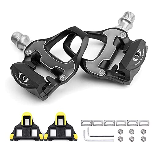 AIHANCH Bike Pedals Road Bike Pedals Lightweight Bicycle Platform Pedals Carbon Cycling Road Bike Pedals with Bike Cleats for Shimano SPD-SL System