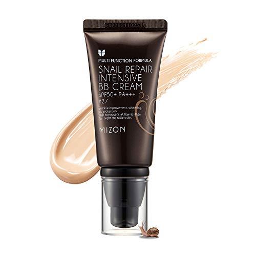 Mizon BB Cream Dark/Medium, Anti-Aging Face Moisturizer, Snail Repair Blemish Balm BB Cream Moisturizer (#27)