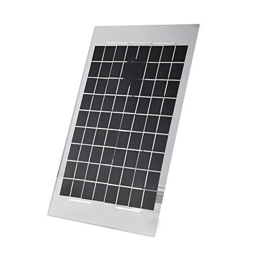 Zonnepaneel, draagbare 10W polykristallijne zonnepaneellader met krokodillenklem voor huizen / kamperen binnen / buiten.