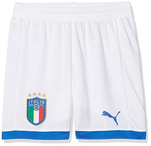 PUMA FIGC Italia Replica, Pantalone Unisex-Bambino, Bianco/Away, L