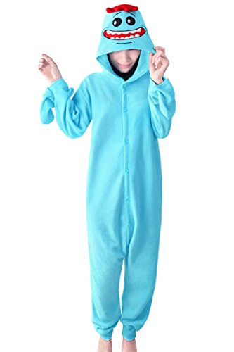 Lifeye Adult Rick Pajamas Anime Cosplay Costume Blue L