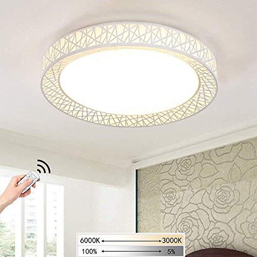 Led-plafondlamp, kroonluchter, modern, vogelnest, design, afstandsbediening, dimbaar, acryl, ronde lampenkap, LED, spotlight, Ø 50 cm