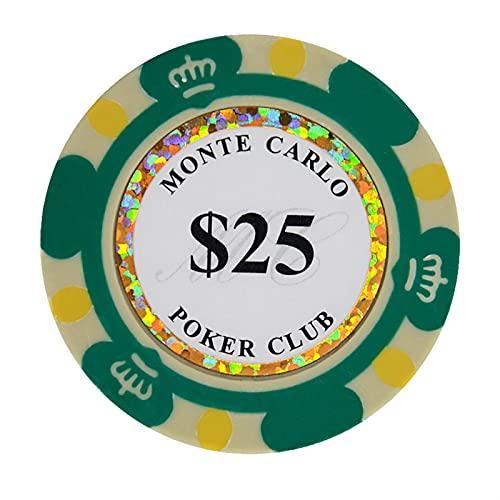 Fiches di poker jiesite argillosa fiches di poker chips casinò monete 40mm moneta poker chips 14g set intrattenimento personalizzato texas hold'em monete dollaro 10pcs / pack chip di poker del casinò