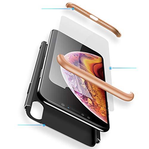 MEVIS Funda iPhone 6/6S Plus,360 Grados Integral para Ambas Caras + (Cristal...