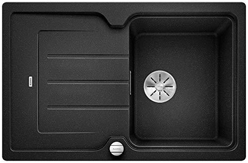 Blanco Classic Neo 45 S, Küchenspüle aus Silgranit PuraDur, reversibel, Anthrazit-schwarz / mit InFino-Ablaufsystem, inkl. SmartCut-Schneidbrett und Ablauffernbedienung; 523995