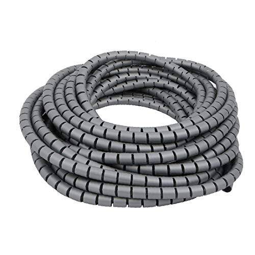 X-DREE 10 mm de diámetro Flexible Tubo espiral Cable Wrap PC de...