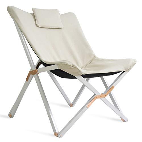Lw outdoor Klappbarer Campingstuhl Klappstuhl Massivholz Für Die Freizeit, Liegestuhl Balkon Für Das Büro Einzel-Siesta Tragbarer Strandkorb Für Außen (Farbe : A)
