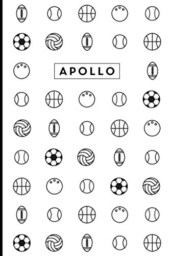 Apollo: Personalized Sports Design Journal and Diary Notebook, Medium Ruled, 100 pages, Gift for Dad, Son, Boy, His Birthday, Christmas, Father's Day